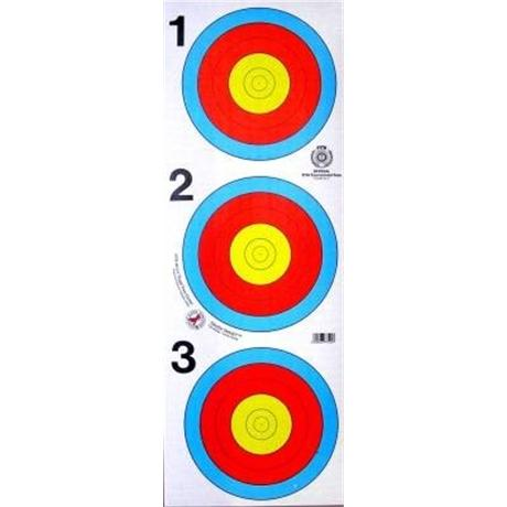 Arrowhead Target Face - 40cm 3 Spot Image 1
