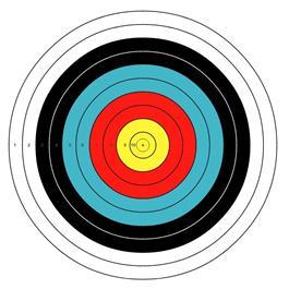Arrowhead Target Face - 80cm Thumbnail Image 0