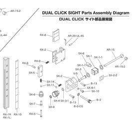 Shibuya Dual Click Part - RX-6 Lever Pivot Screw Thumbnail Image 1