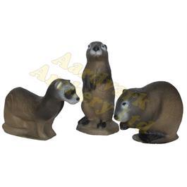 3Di Target 3D - Family Mink-Muskrat-Prairie Dog thumbnail